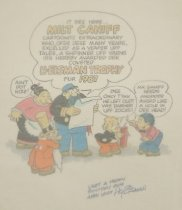 Image of It Sez Here... Milt Caniff Cartoonitz Extraordinary Who, Ofer Dese Many Years, Excelled as a Veafer Uff Tales, a Shpinner Uff Yarns Iss Hearby Awarded Der Coveted H-eisman Trophy Fur 1987 - Eisman, Hy, 1927-